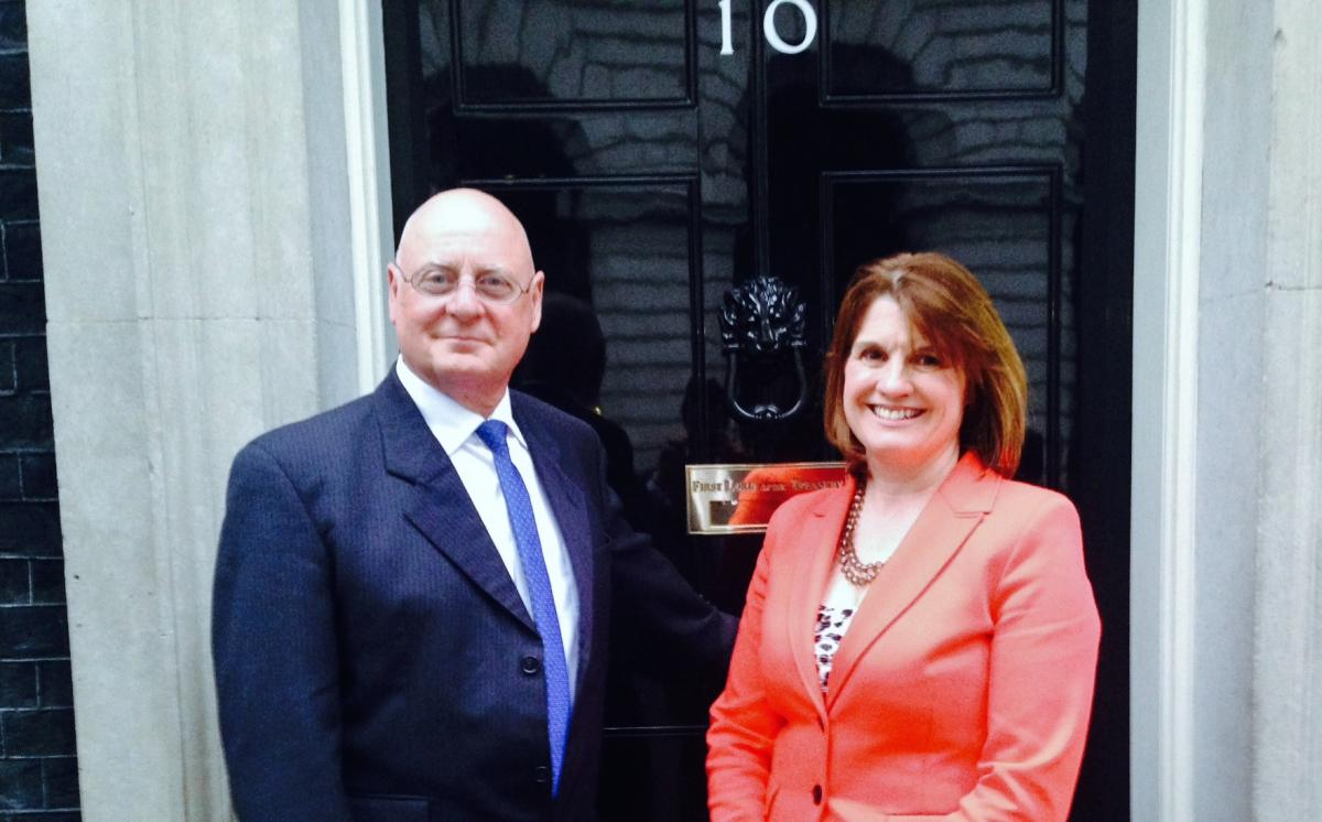 Rachel Maclean with Mike Bennett at 10 Downing Street