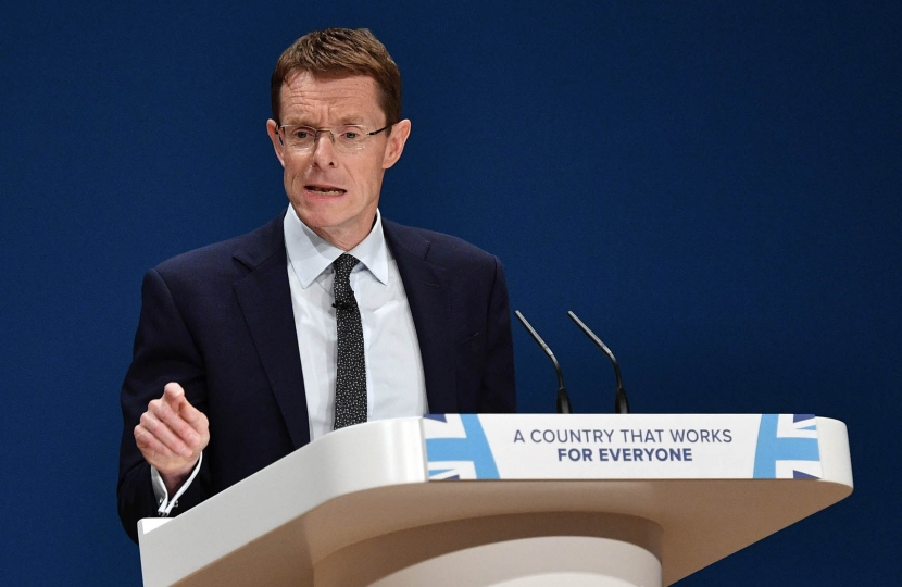 Andy Street addresses the Conservative Party Conference