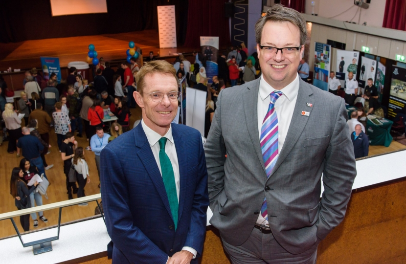 Mike Wood MP and Andy Street at the Dudley South Jobs & Careers Fair