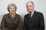 Philip Seccombe with Theresa May