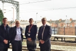 Rugby MP Mark Pawsey at Rugby Station with members of Rugby Rail Users Group
