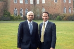 Nigel Huddleston MP with the Home Secretary Sajid Javid MP