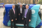 Mark Pawsey MP with the driverless Pod