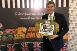Philip Dunne MP shows his support for British farming